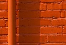 Orange wall deco