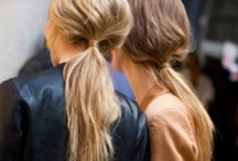Pony vs Plait / We are witnessing the battle between ponytails and plaits from catwalks to sidewalks all over the world!!! I am on team ponytail... especially BIG teased ponys with maximum volume at the crown... nothing more flattering x