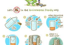 Eco friendly tricks / We respect the environment. We make our life easier without damaging it.