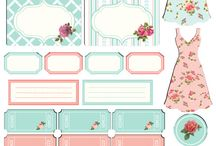 printable shabby chic, card and tag