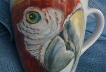 Porcelanas / Pintura Pantaneira - Ms