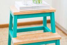 Interiør og oppbevaring - DIY / Smarte løsninger for mye stæsj og liten plass å stæsje stæsjet på.