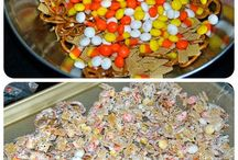 Halloween treat / Chez mix and candy corn