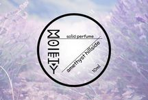 Moiety Solid perfumes / 100% natural, sustainable, homemade gender neutral line of solid perfumes.