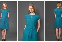 Collection of linen dresses / Discover pure linen dresses. Elegant and stylish dresses for every shape. #linenfashion #linendresses
