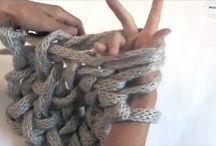 毛糸腕編み