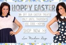 £30 Off Easter Collection / Here's a little Easter treat from us at Madam Rage HQ!  Take 30% off our Easter Treats Collection until Thursday!   USE CODE - 'HOP30' at checkout!  Order before 4pm to get it in time for the long weekend!  Love Madam Rage HQ xo