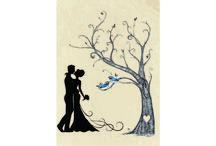 Esküvői ujjlenyomatfa