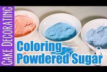 Coloured sugar