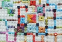 Colourful composition in embroidery  /  Very good abstract