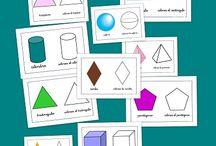 Geometria_ Figures Geomètriques / quadrat, cercle, triangle, rectangle, esfera, prisma ...