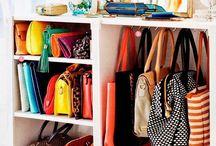 Organizar sapatos e bolsas
