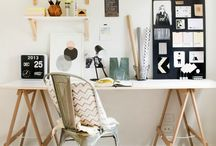 Gorgeous Workspaces / Looking to tidy your home office or personalise your desk at work? Here are a selection of gorgeous and inspiring workspaces to give you plenty of ideas