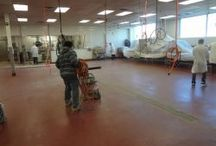 Food Processing Flooring / http://www.highperformancesystems.com/case-studies/food-processing-flooring/seamless-production-flooring/