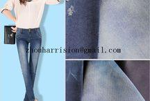 cotton elastic denim fabrics / supply fabrics