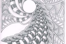 Zentangle Art by Chelle / Zentangle art created by Chelle/Spiraltwister