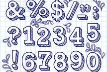 handlettering cijfers