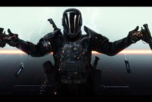 Scifi soldiers