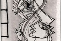 CADERNOS DE SEGREDOS / Cadernos feitos à mão em papel de algodão manual, para eu desenhar as capas com obras originais. Têm 12 folhas, 24 paginas para escrever, inventar, e 13x17 cm h 1cm, estarão a partir de agora à venda nas minhas exposições e no espaço CERAMICARTE em Cascais. Teremos brevemente também edições limitadas e numeradas.