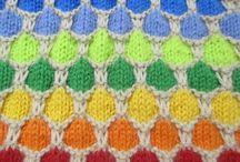 ハニカムブランケットの編み方