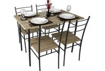 5 Piece Modern Table And Very Comfortable Chair Set