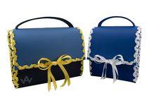 AugenWaide Trachtenkollektion / Trachtentaschen für fesche Madeln mit Satinband und für resche Buam mit Lederband!