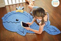 szydełkowe dywaniki dla dzieci