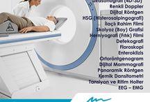 Radyoloji / Rezonans (Kapalı Emar) Manyetik Rezonans (Kapalı Emar) Manyetik Rezonans (Açık Emar) BT-Bilgisayarlı Tomografi Dijital Anjiyografi Ultrasonografi (4D-3D) Renkli Doppler Dijital Röntgen HSG (Histerosalpingografi) İlaçlı Rahim Filmi Skolyoz (Boy) Grafisi Herniyografi (Fıtık) Filmi Floroskopi Defekografi Enteroklizis Ortoröntgenogram Dijital Mammografi Panoramik Röntgen Kemik Dansitometri Tansiyon ve Ritim Holter EEG - EMG Hizmetleri