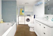laundry in the washroom