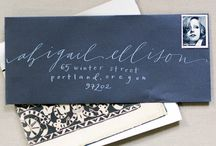 Calligraphy Inspiration / Calligraphy styles and ideas that inspire me.