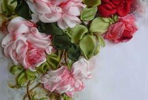 Ribbon and Fabric Flowers / by Faye