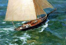 yachts on ocean