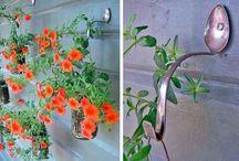 ganchos para macetas y jardineras