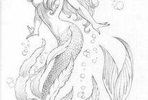 Mermaid / Siren tattoo ideas
