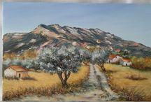 Massif de la Sainte Victoire au Printemps sur les traces de Cezanne *****