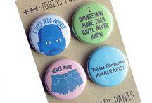 Arthur's Plaid Pants buttons + magnets / Pinback buttons + magnets by Arthur's Plaid Pants https://www.arthursplaidpants.com/