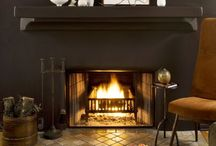 Fireplace / Remodeling a fireplace is no easy task. All things natural make me giddy.