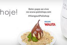 Cozinhar e fritar sem óleo / Hoje 24/11 às 20h horário de Brasília ao vivo  Bate-papo Hangout POLISHOP Philips Walita Airfryer www.polishop.com.br/hangout www.polishop.com.vc/manueldoliveirafilho