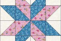 pembe mavi çiçekli yıldız