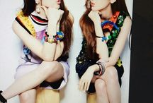 jungsisters<3 / Korean pop stars and style icons the Jung sisters Jessica and Krystal.