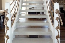 Portsea stairs / 2 staircases. One in kitchen with understair laundry, one in kids room to attic bedroom.