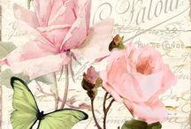 KHB - Blomster / Decoupage og blomster