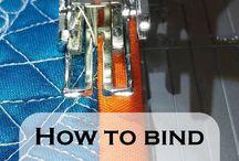 machine quilt binding