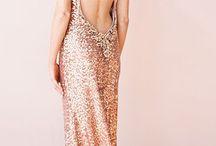 Pink. shiny dresses