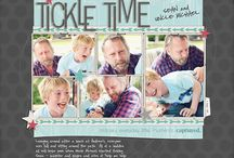 My Digital Scrapbook Pages / Love to memory keep like this for my family.  Some of the fave pages I have made using the products from Designer Digitals.