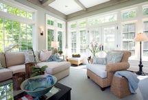 Sunny Rooms / Bath your sunroom in light and great style. Great examples below.