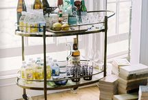 the home bar / bar carts, essential ingredients, styling, supplies, etc.  / by Kate Palmer