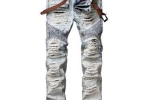 Biker, Distressed, Ripped Jeans for Men