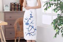 Mid-length Cheongsam Qipao Chinese Dress / Mid-length Cheongsam Qipao Chinese Dress