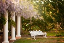 Gordon-Lee Mansion Garden Wedding Venue / The gardens is another majestic backdrop that brides use for there ceremony or reception venue. The mansion is located in North Georgia in the historic town of Chickamauga and south of Chattanooga, TN